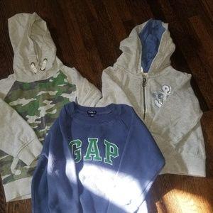 3 sweatshirts